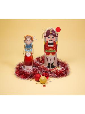 Набор для шитья и вышивания чехол на бутылку Щелкунчик Матренин Посад. Цвет: красный
