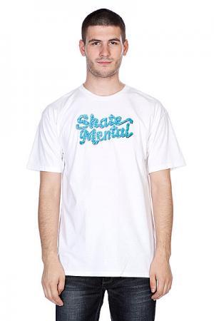 Футболка  Icing Logo White Skate Mental. Цвет: белый