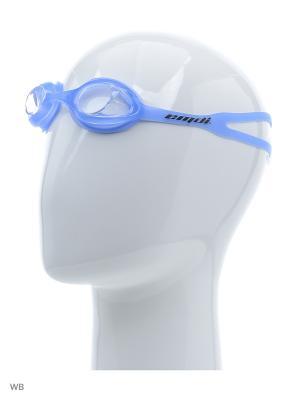 Очки для плавания EMDI. Цвет: голубой