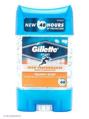 Дезодорант-антиперспирант гелевый, Power Beads Gillette Sport Triumph, 75 мл. Цвет: голубой