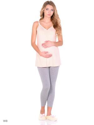Комплект для беременных и кормящих FEST. Цвет: персиковый, серый