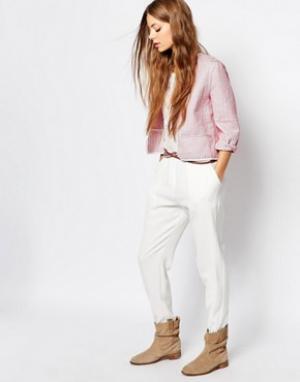 Vanessa Bruno Athé Кремовые брюки из жатого жакарда Athe Elaya. Цвет: кремовый