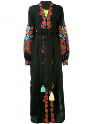 Платье с пышными рукавами Eden Tree Yuliya Magdych. Цвет: чёрный