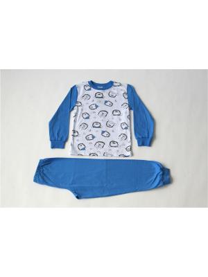 Пижама Iota. Цвет: молочный, синий