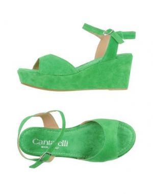 Сандалии CANTARELLI. Цвет: зеленый