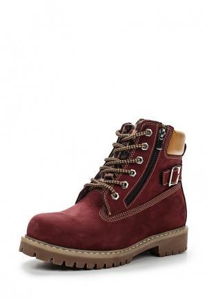 Ботинки Excavator. Цвет: бордовый