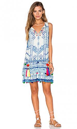 Мини-платье футляр mini shift HEMANT AND NANDITA. Цвет: синий