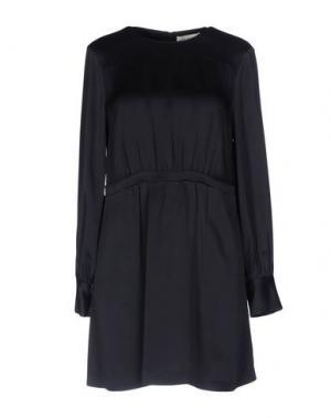 Короткое платье SONIA DE NISCO. Цвет: темно-синий