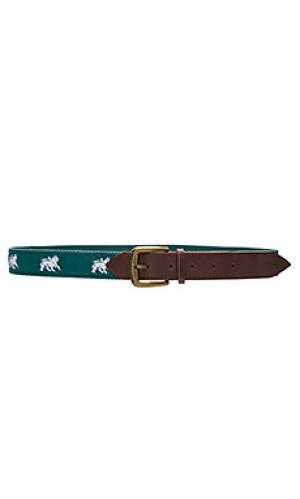 Needle point belt Stussy. Цвет: зеленый