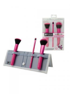 Royal&langnickel MODA  COMPLEXION PERFECTION SET. Набор кистей для макияжа Безупречный цвет лица. Цвет: розовый