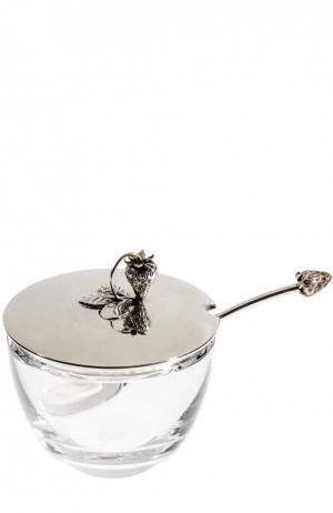 Чаша для джема с ложкой Tsar. Цвет: прозрачный