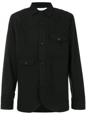Классическая приталенная рубашка Han Kjøbenhavn. Цвет: чёрный