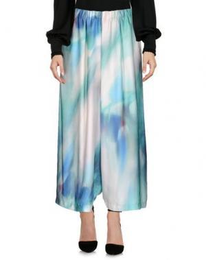 Повседневные брюки MARIA CALDERARA. Цвет: светло-зеленый