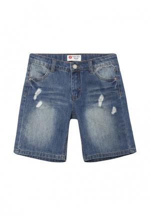 Шорты джинсовые Button Blue. Цвет: синий