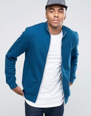 New Look Сине-зеленая спортивная куртка. Цвет: синий