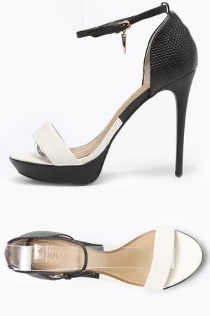 Туфли летние открытые Dumond. Цвет: белый, черный