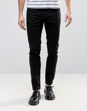 Rollas Черные супероблегающие джинсы с заниженной талией Stinger. Цвет: черный