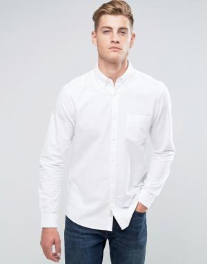 Jack Wills Белая оксфордская рубашка классического кроя Wadsworth. Цвет: белый