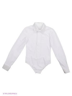 Блузка-боди для танцев Полина. Цвет: белый