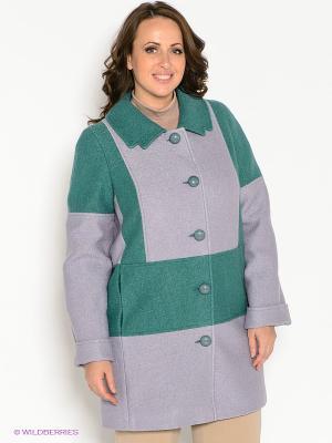 Пальто Klimini. Цвет: лиловый, бирюзовый