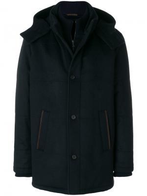 Стеганая куртка Manzoni 24. Цвет: синий
