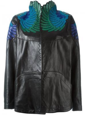 Куртка с вышивкой Jitrois. Цвет: чёрный