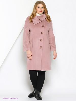 Пальто Amulet. Цвет: бледно-розовый