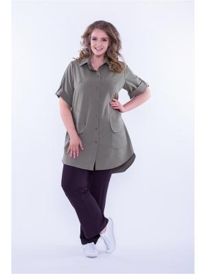 Платье рубашка Техас Авантюра. Цвет: хаки