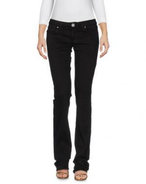 Джинсовые брюки KOCCA. Цвет: темно-коричневый