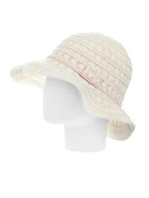 Шляпа Gusachi. Цвет: молочный, розовый