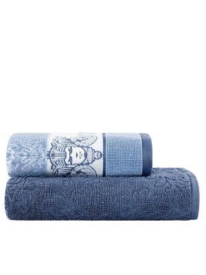 Комплект полотенец Осирис TOGAS. Цвет: синий