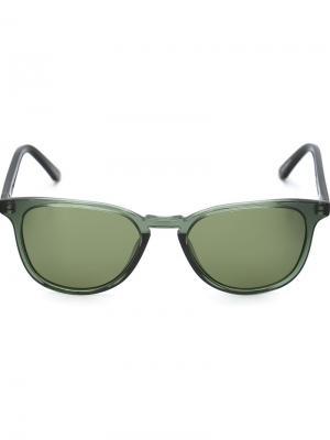 Солнцезащитные очки Oliver Krewe Du Optic. Цвет: зелёный