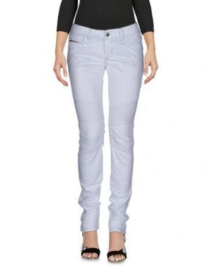 Джинсовые брюки POORICH. Цвет: белый