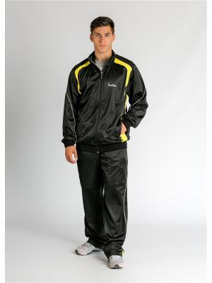 Костюм спортивный nikkas. Цвет: черный, желтый