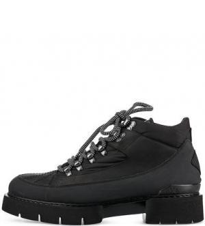Черные ботинки на толстой подошве O.X.S.. Цвет: черный