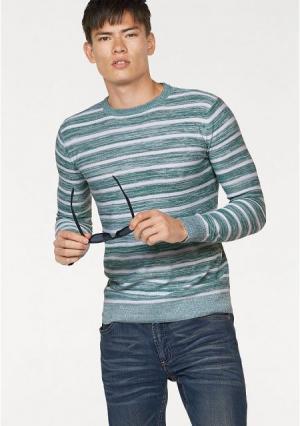 Пуловер JOHN DEVIN. Цвет: темно-синий/белый в полоску