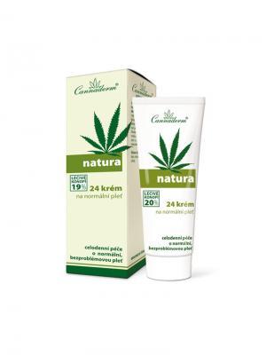 Крем Natura 24 для нормальной кожи 75 г. Cannaderm. Цвет: белый, зеленый