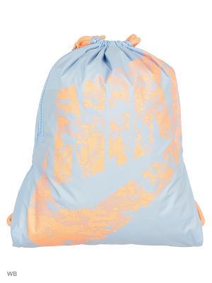 Рюкзак NIKE HERITAGE GYMSACK. Цвет: голубой, оранжевый