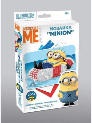 Minions. Мозаика  -сингл Миньон на кругу Minions. Цвет: синий,голубой,красный