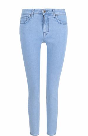 Укороченные джинсы-скинни Victoria by Beckham. Цвет: голубой