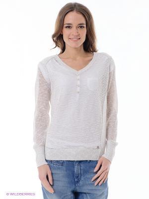 Пуловер ESPRIT. Цвет: белый