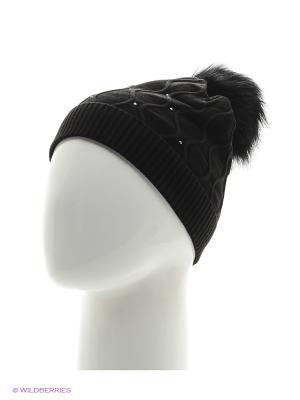 Колибри Беркле шапка женская с помпоном Berkle. Цвет: черный