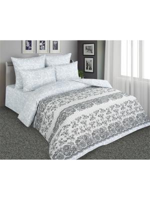 Постельное белье Изысканое кружево 2 спальный Amore Mio. Цвет: серый