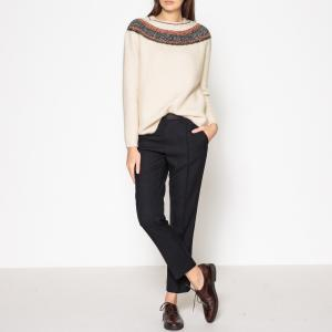 Пуловер с оригинальным вырезом POYANAWA SESSUN. Цвет: экрю