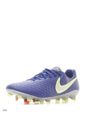 Бутсы MAGISTA OPUS II FG Nike. Цвет: синий