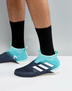 Adidas Синие футбольные кроссовки для игры на газоне Tango 17+ Pure Co. Цвет: зеленый