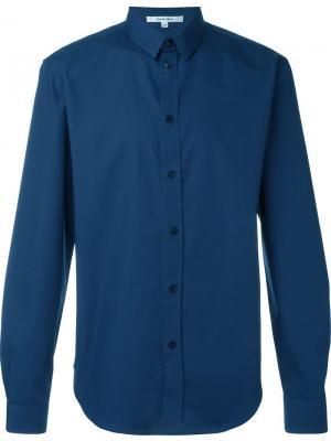 Рубашка с закругленным подолом Carven. Цвет: синий