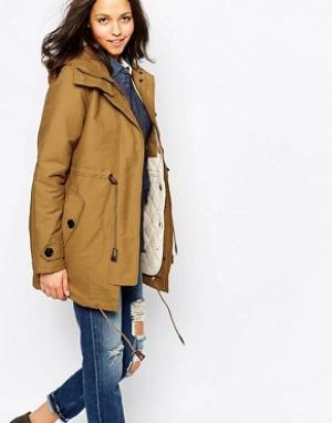 Sessun Медово-коричневое пальто Deserter. Цвет: коричневый