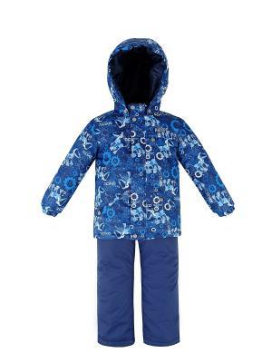 Комплект для мальчика (куртка+полукомбинезон) REIKE. Цвет: синий