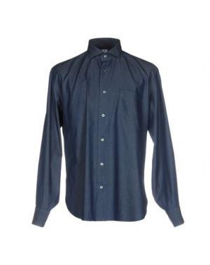 Джинсовая рубашка DANOLIS. Цвет: синий